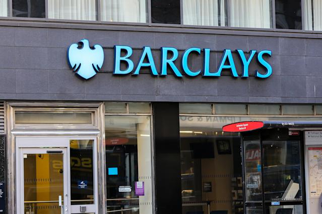 An exterior view of a Barclays Bank branch in central London. (Dinendra Haria/SOPA Images/LightRocket via Getty Images)