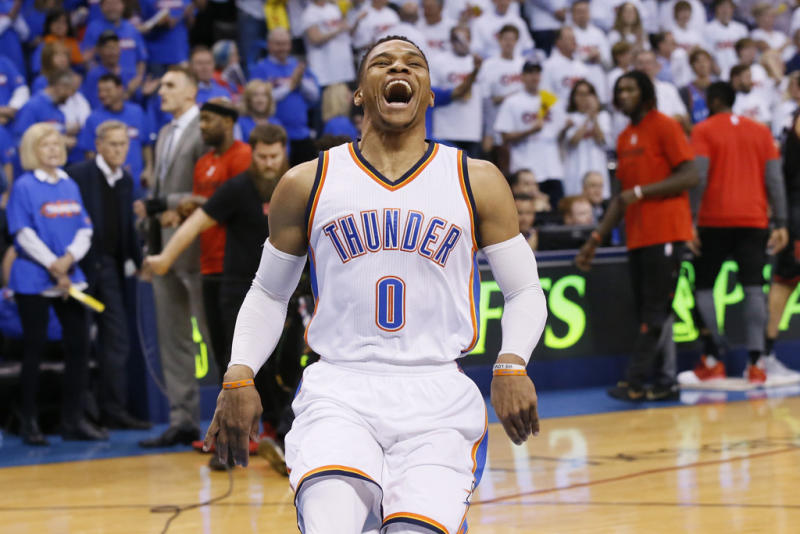 eb764e0fc40f38 Russell Westbrook Makes NBA History as First Player to Average  Triple-Double Three Times in a Row