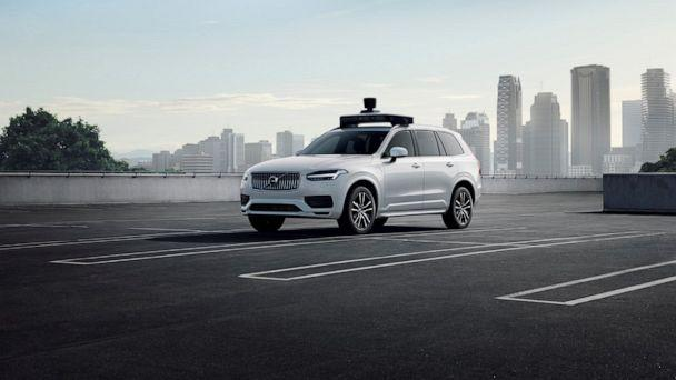 PHOTO: A Volvo and Uber self-driving vehicle is pictured here. (Volvo)
