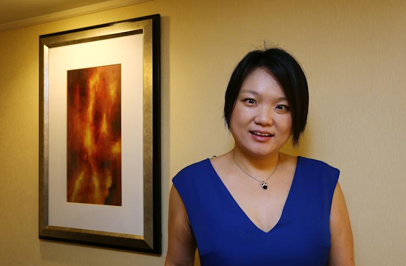 Jessica Tan of Ping An, Chief Operation Officer and Chief Information Officer, poses for a picture at JW Marriott Hong Kong in Admiralty. 18AUG16 SCMP / Jonathan Wong (Photo by Jonathan Wong/South China Morning Post via Getty Images)