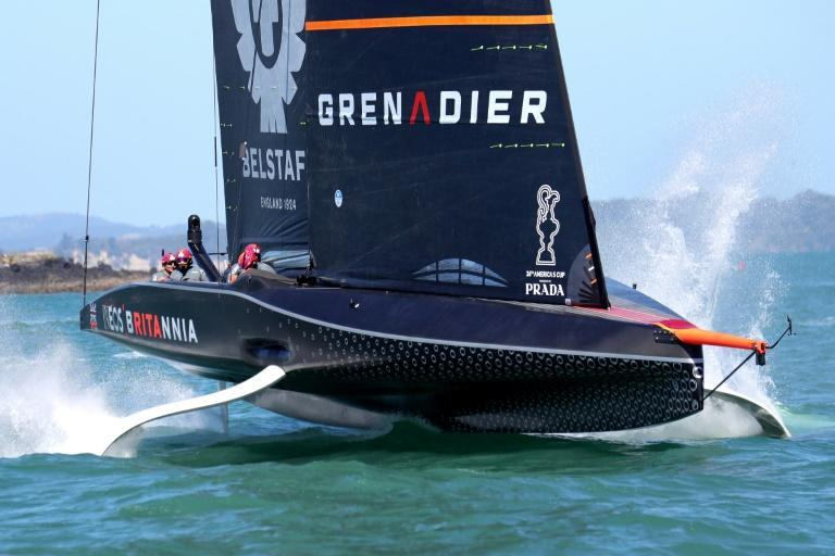INEOS Team UK during the first day of the Prada America's Cup World Series in Auckland