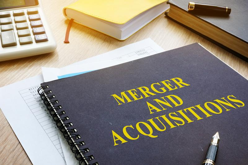 """Notebook with """"Merger and Acquisitions"""" on the front"""