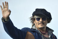 US actor Johny Deep poses during a photocall at the 69th San Sebastian Film Festival, in San Sebastian, northern Spain, Wednesday, Sept. 22, 2021. Johny Depp will be receiving on the night Donostia Award for his contribution to the cinema. (AP Photo/Alvaro Barrientos)