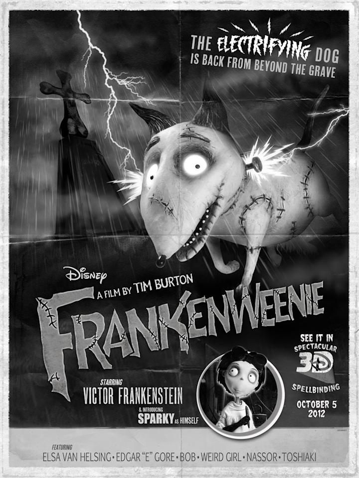 "Exclusive Comic-Con poster for Walt Disney Pictures' ""Frankenweenie"" - 2012"