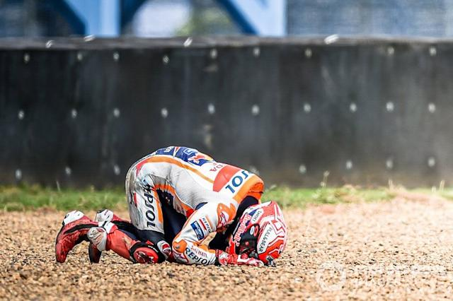 "Caída de Marc Marquez, Repsol Honda Team <span class=""copyright"">Chang International Circuit</span>"