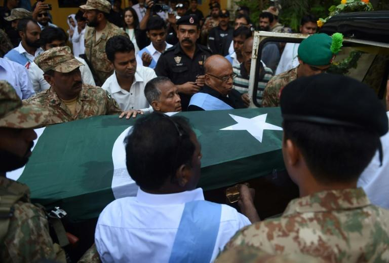 Pakistan President Mamnoon Hussain attended the state funeral service at St Patrick's Cathedral in the city, where hundreds of people gathered to pay their respects