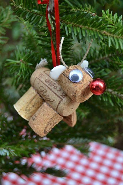 """<p>Use two-and-a-half wine corks and a little bit of fabric scrap to create a miniature Rudolph.</p><p><strong>Get the tutorial at <a href=""""http://thehomelessfinch.blogspot.com/2011/12/25-days-of-christmas-and-holiday-series_09.html"""" rel=""""nofollow noopener"""" target=""""_blank"""" data-ylk=""""slk:The Homeless Finch"""" class=""""link rapid-noclick-resp"""">The Homeless Finch</a>.</strong> </p>"""