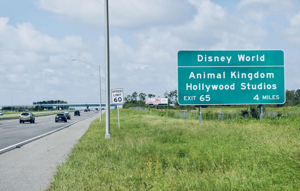 <p>The I-4 passes many of Florida's most famous attractions</p>Getty