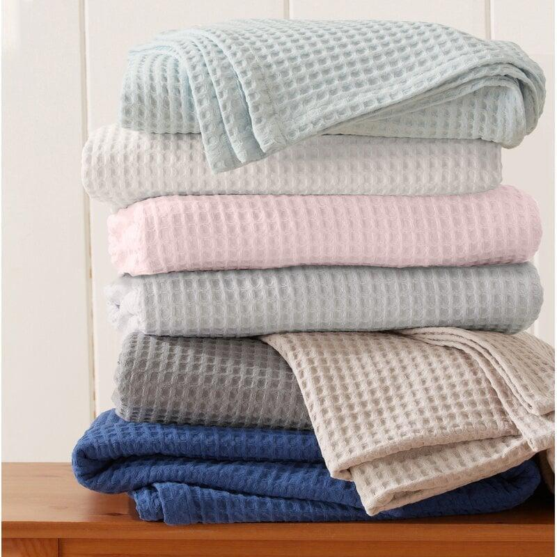 "<p>This <a href=""https://www.popsugar.com/buy/Bonner-Waffle-Weave-Cotton-Blanket-567261?p_name=Bonner%20Waffle%20Weave%20Cotton%20Blanket&retailer=wayfair.com&pid=567261&price=39&evar1=casa%3Aus&evar9=45784601&evar98=https%3A%2F%2Fwww.popsugar.com%2Fhome%2Fphoto-gallery%2F45784601%2Fimage%2F47575725%2FBonner-Waffle-Weave-Cotton-Blanket&list1=shopping%2Cproducts%20under%20%2450%2Cdecor%20inspiration%2Caffordable%20shopping%2Chome%20shopping&prop13=api&pdata=1"" class=""link rapid-noclick-resp"" rel=""nofollow noopener"" target=""_blank"" data-ylk=""slk:Bonner Waffle Weave Cotton Blanket"">Bonner Waffle Weave Cotton Blanket</a> ($39) is a lightweight and cozy choice for spring and summer.</p>"