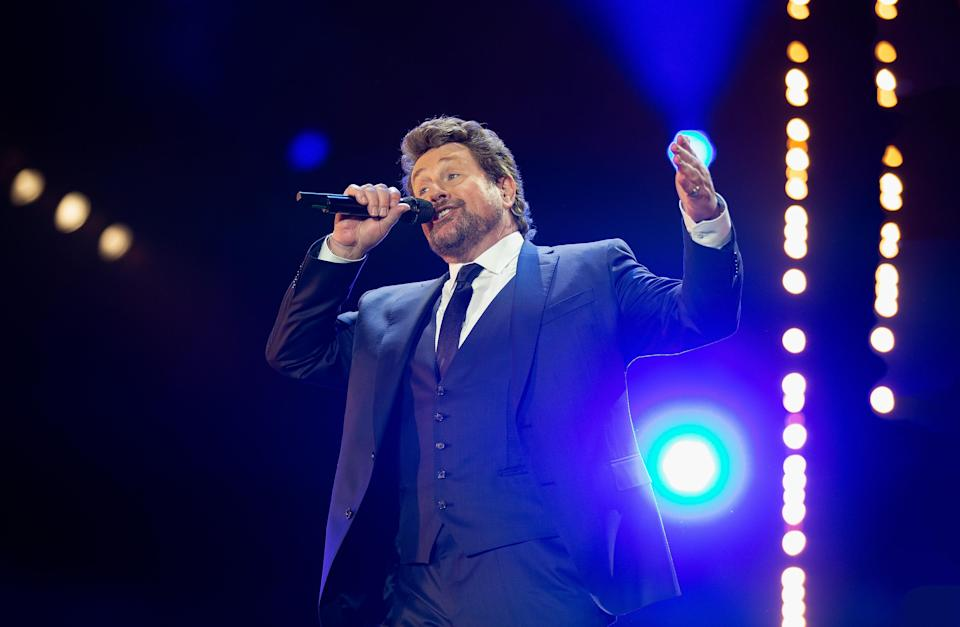 LONDON, ENGLAND - SEPTEMBER 14: Michael Ball performs on stage during BBC Proms In The Park 2019 at Hyde Park on September 14, 2019 in London, England. (Photo by Jo Hale/Redferns)