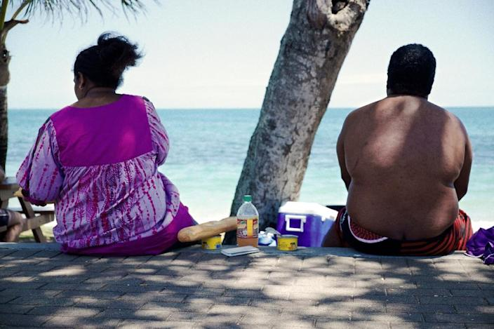 In 2014, the world's fattest people lived in the island nations of Polynesia and Micronesia, where 38 percent of men and more than half of women were obese (AFP Photo/Theo Rouby)