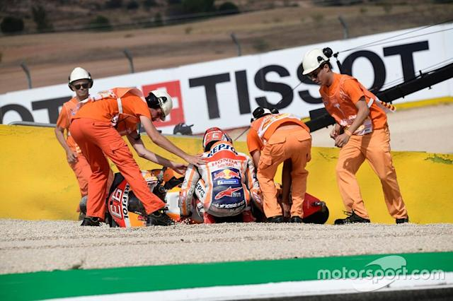 "Accidente de Marc Márquez, Repsol Honda Team <span class=""copyright"">Miquel Liso</span>"