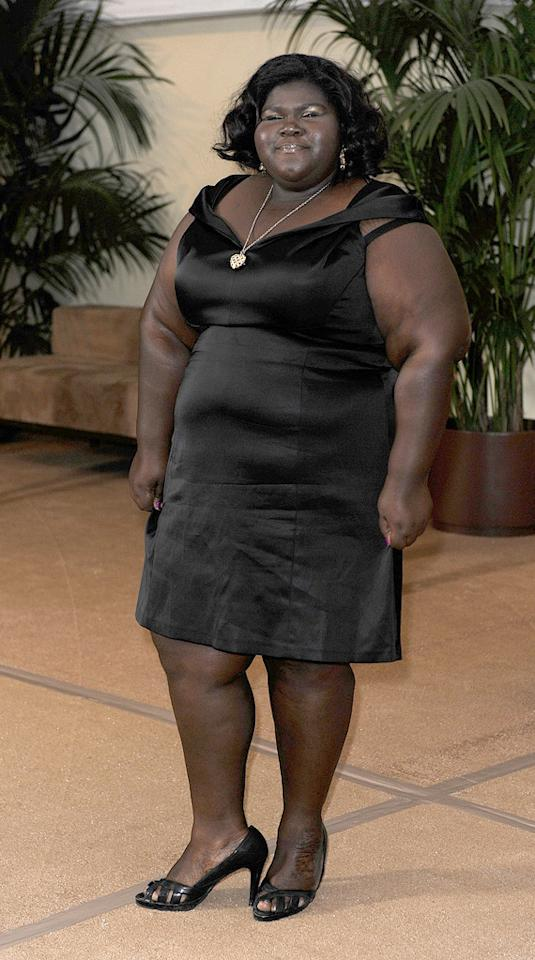 """<a href=""""http://movies.yahoo.com/movie/contributor/1810088328"""">Gabourey Sidibe</a> at the Academy of Motion Picture Arts and Sciences' Inaugural Governors Awards - 11/14/2009"""
