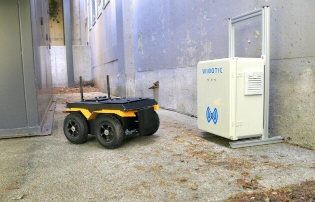 WiBotic's system is designed to charge up robots wirelessly. (WiBotic Photo)
