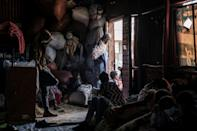 Some of the people fleeing from the violence in Ataye have taken refuge in th town of Debre Berhan.