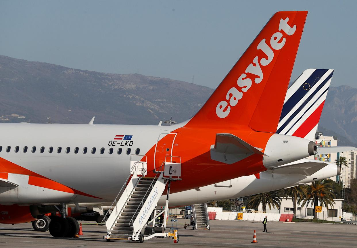 EasyJet expects a slow start to the summer holiday season, forecasting that it will fly just 15% of its capacity in the third quarter of this year compared with 2019. Photo: Eric Gaillard/Reuters