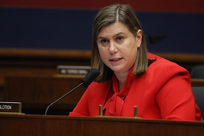 Representative Elissa Slotkin, a Democrat from, a Democrat from Michigan, speaks during a House Homeland Security Committee security hearing in Washington, D.C., U.S., on Thursday, Sept. 17, 2020. (Chip Somodevilla/Getty Images/Bloomberg via Getty Images)