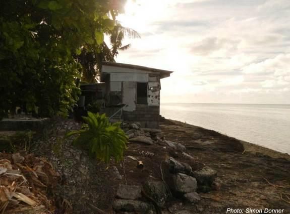 A house in South Tarawa in 2005 before the big floods.