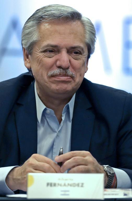 The United States says it expects a positive relationship with Argentina's president-elect Alberto Fernandez, seen here in November 2019 (AFP Photo/ALEJANDRO PAGNI)