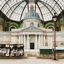 <p>The Grand Palais referenced its own city for SS19. Chanel revealed, the set 'brings to life the inspirations drawn from the sights and sounds of Paris. Promenades by the Seine lead past the French capital's green open-air book stalls.'</p>