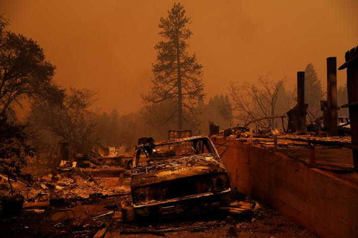 Property destroyed by the Camp Fire in Paradise, Calif., Nov. 9, 2018. (Photo: Stephen Lam/Reuters)