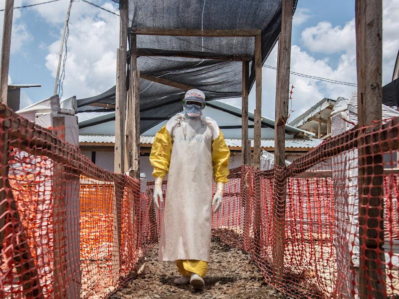 Ebola treatment center in DRC