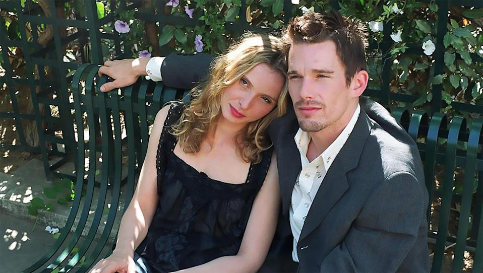 """<p>I have a thing for talky, romantic, artsy movies that hinge on lightning-speed dialogue and subtle character development. <em>Before Sunset</em> delivers this in spades. The film picks up nine years after the original, and we find Ethan Hawke and Julie Delpy's characters reconnecting following a romantic fling almost a decade before. Where this film shines is in how it captures the growth that people can undergo—or ignore—over the course of their lives. The first film captures the naïveté and whimsy of young love, while the second reckons with the aftermath of life choices (both good and bad). — <em>BJ</em></p> <p><a href=""""https://www.netflix.com/title/60036229"""" rel=""""nofollow noopener"""" target=""""_blank"""" data-ylk=""""slk:Stream on Netflix"""" class=""""link rapid-noclick-resp""""><em>Stream on Netflix</em></a></p>"""