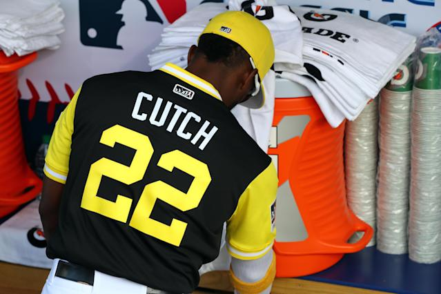 Andrew McCutchen went with a familiar nickname for Players Weekend. (Getty Images)
