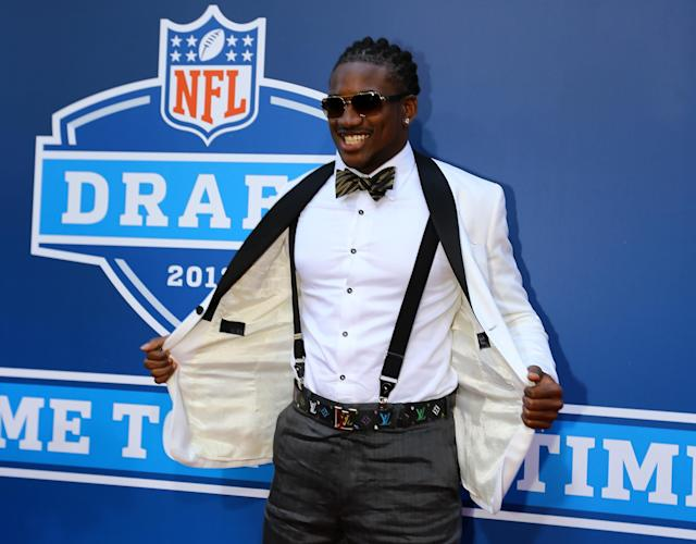 NEW YORK, NY - APRIL 25: Cordarelle Patterson of the Tennessee Volunteers arrives on the red carpet for the first round of the 2013 NFL Draft at Radio City Music Hall on April 25, 2013 in New York City. (Photo by Al Bello/Getty Images)