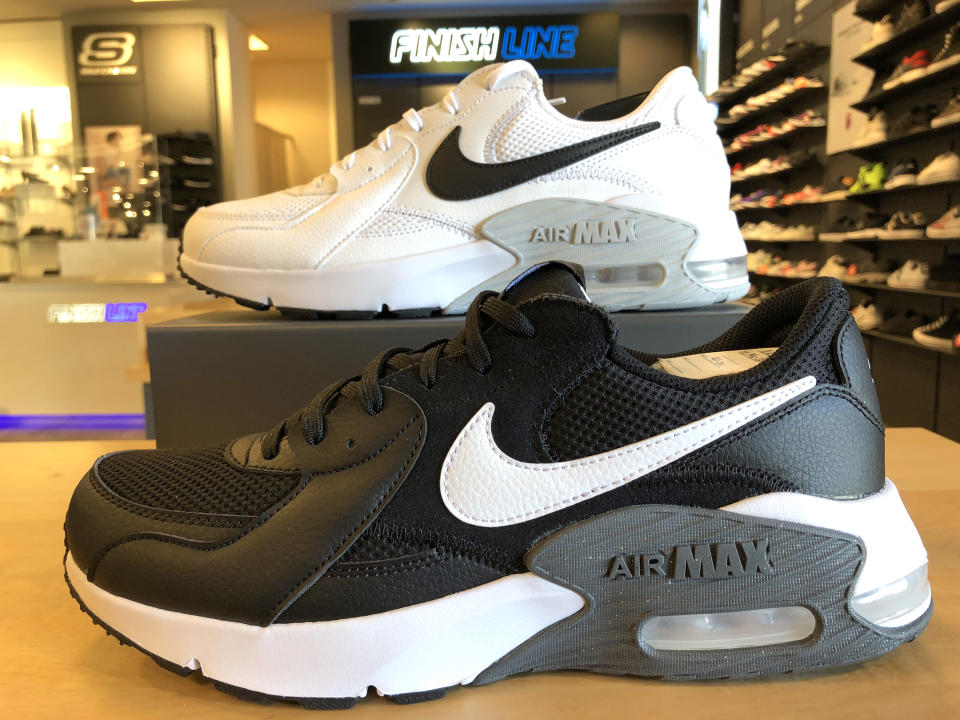 CORTE MADERA, CALIFORNIA - SEPTEMBER 22: Nike shoes are displayed at a Macy's store on September 22, 2020 in Corte Madera, California. Nike reported better-than-expected first quarter earnings with net income of $1.52 billion, or 95 cents per share, compared to $1.37 billion, or 86 cents per share, one year ago. (Photo by Justin Sullivan/Getty Images)