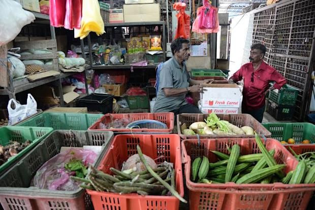 T. Selloraji has been operating the vegetable stall for 45 years.