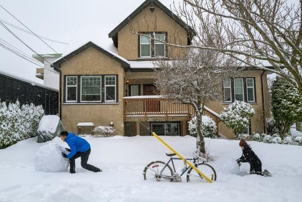 People take advantage of heavy snowfall in Victoria on Saturday. The South Coast has had a snowy long weekend.
