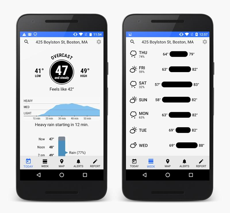 Our favorite iPhone weather app ever finally comes to Android