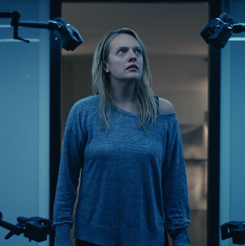 """<p><b><i>The Invisible Man</i></b> </p><p>Though it borrows from the premise of HG Well's original novel, this 2020 retelling feels specific to a post Me-Too world. Elizabeth Moss stars as a woman stalked and terrorized by her ex-boyfriend who has created the technology to become invisible. That is, until she decides to fight back.</p><p><a class=""""link rapid-noclick-resp"""" href=""""https://www.amazon.com/Invisible-Man-Elisabeth-Moss/dp/B084TB64M6/?tag=syn-yahoo-20&ascsubtag=%5Bartid%7C10055.g.29120903%5Bsrc%7Cyahoo-us"""" rel=""""nofollow noopener"""" target=""""_blank"""" data-ylk=""""slk:WATCH NOW"""">WATCH NOW</a></p>"""
