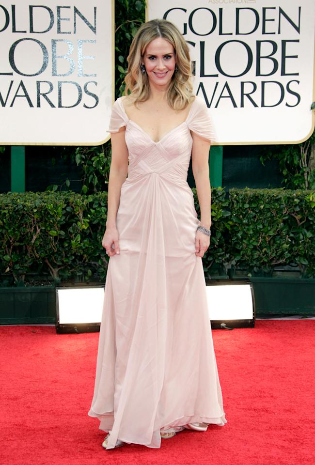 Sarah Paulson arrives at the 69th Annual Golden Globe Awards in Beverly Hills, California, on January 15.