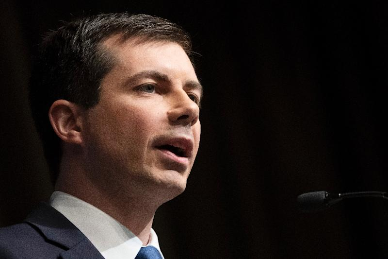 Buttigieg, who is credited with helping turn South Bend around, has couched himself as a can-do reformer who can speak to voters across the political spectrum (AFP Photo/Don Emmert)