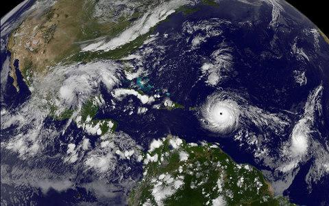Hurricane Irma a record Category 5 storm churns across the Atlantic Ocean on a collision course with Puerto Rico and the Virgin Islands - Credit: NASA/Reuters