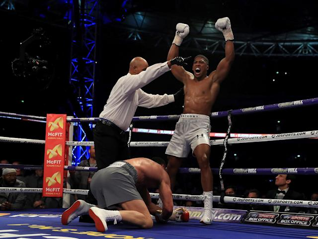 Revealed: Anthony Joshua earns £15m payday from win over Wladimir Klitschko