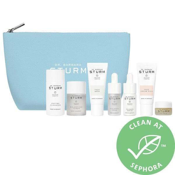 <p>While the products inside <span>Dr. Barbara Sturm The Winter Kit</span> ($265) aren't new, it packs travel sizes of seven goodies to get your skin through the harshest of months. </p>