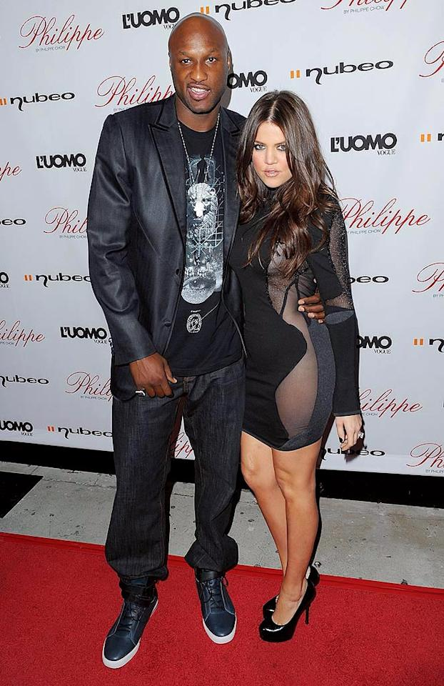 "Newlyweds Lamar Odom and Khloe Kardashian were also in the house. Are you sick of these two yet? Jason Merritt/<a href=""http://www.gettyimages.com/"" target=""new"">GettyImages.com</a> - October 12, 2009"