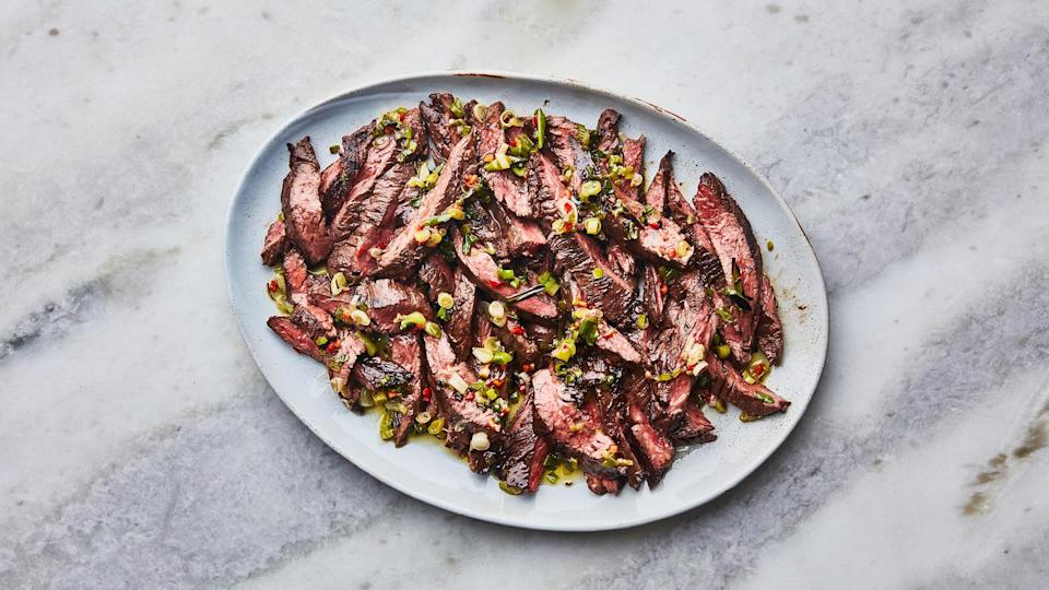 """<a href=""""https://www.bonappetit.com/recipe/steak-with-grilled-scallion-salsa-verde?mbid=synd_yahoo_rss"""" rel=""""nofollow noopener"""" target=""""_blank"""" data-ylk=""""slk:See recipe."""" class=""""link rapid-noclick-resp"""">See recipe.</a>"""