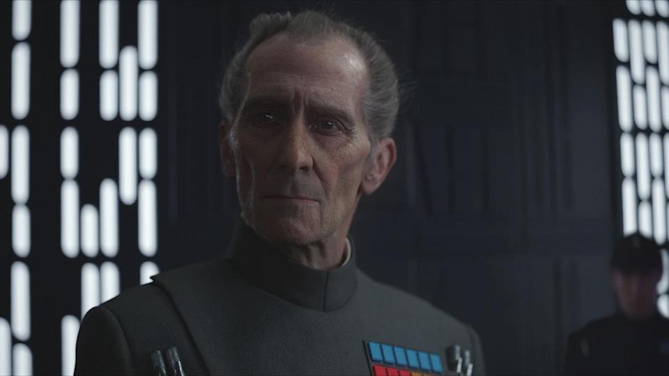 Peter Cushing as brought back to life in 'Rogue One' (Credit: Lucasfilm/Disney)