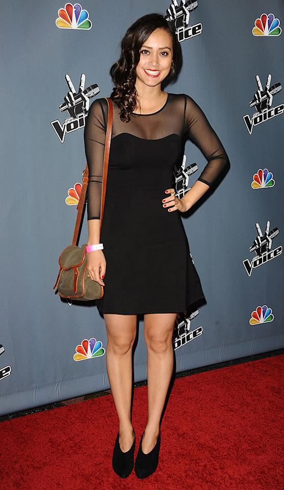 "Dia Frampton arrives at the screening of NBC's ""The Voice"" Season 4 at TCL Chinese Theatre on March 20, 2013 in Hollywood, California."