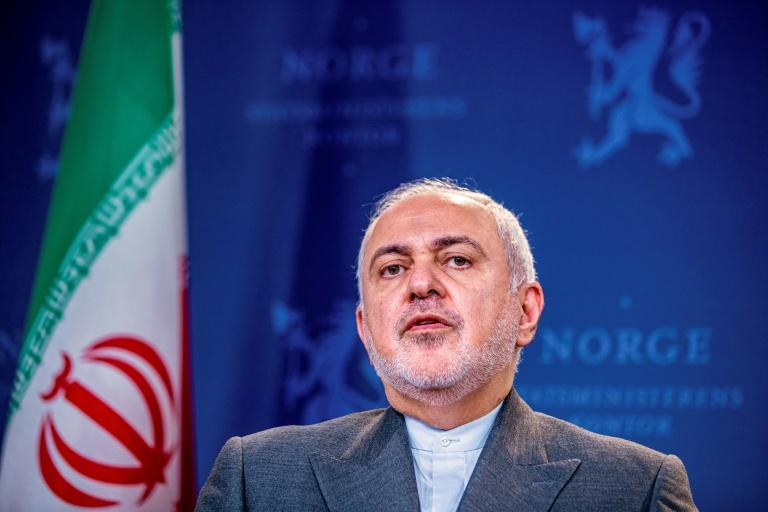 Iran's Foreign Minister Mohammad Javad Zarif speaks during a press conference in Norway on August 22, 2019