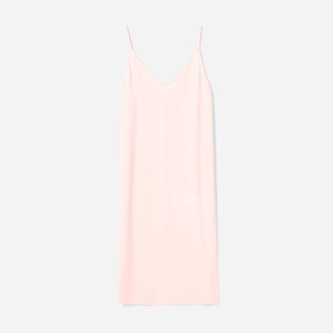 "Everlane is the best retailer for all of your must-have basics and this pastel pink slip dress is no different. $88, Everlane. <a href=""https://www.everlane.com/products/womens-japanese-goweave-slip-dress-rose?collection=dresses"">Get it now!</a>"