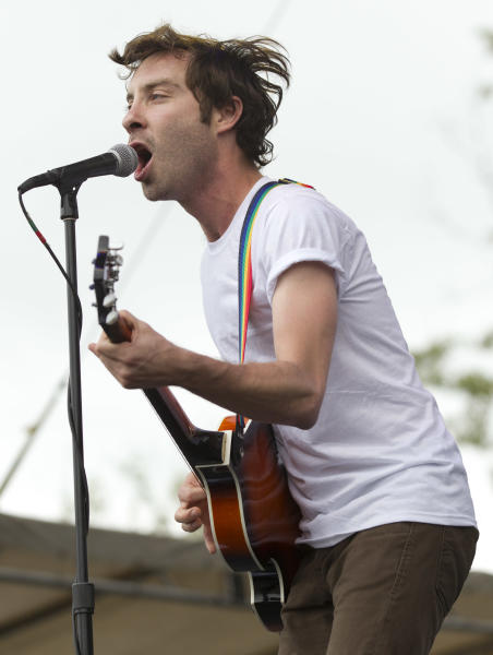 Jared Swilley of The Black Lips performs during the Bonnaroo Music and Arts Festival in Manchester, Tenn., Sunday, June 10, 2012. (AP Photo/Dave Martin)