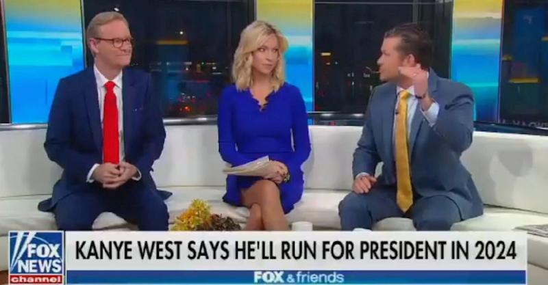 Fox & Friends is throwing its support behind Kanye West's presidential candidacy