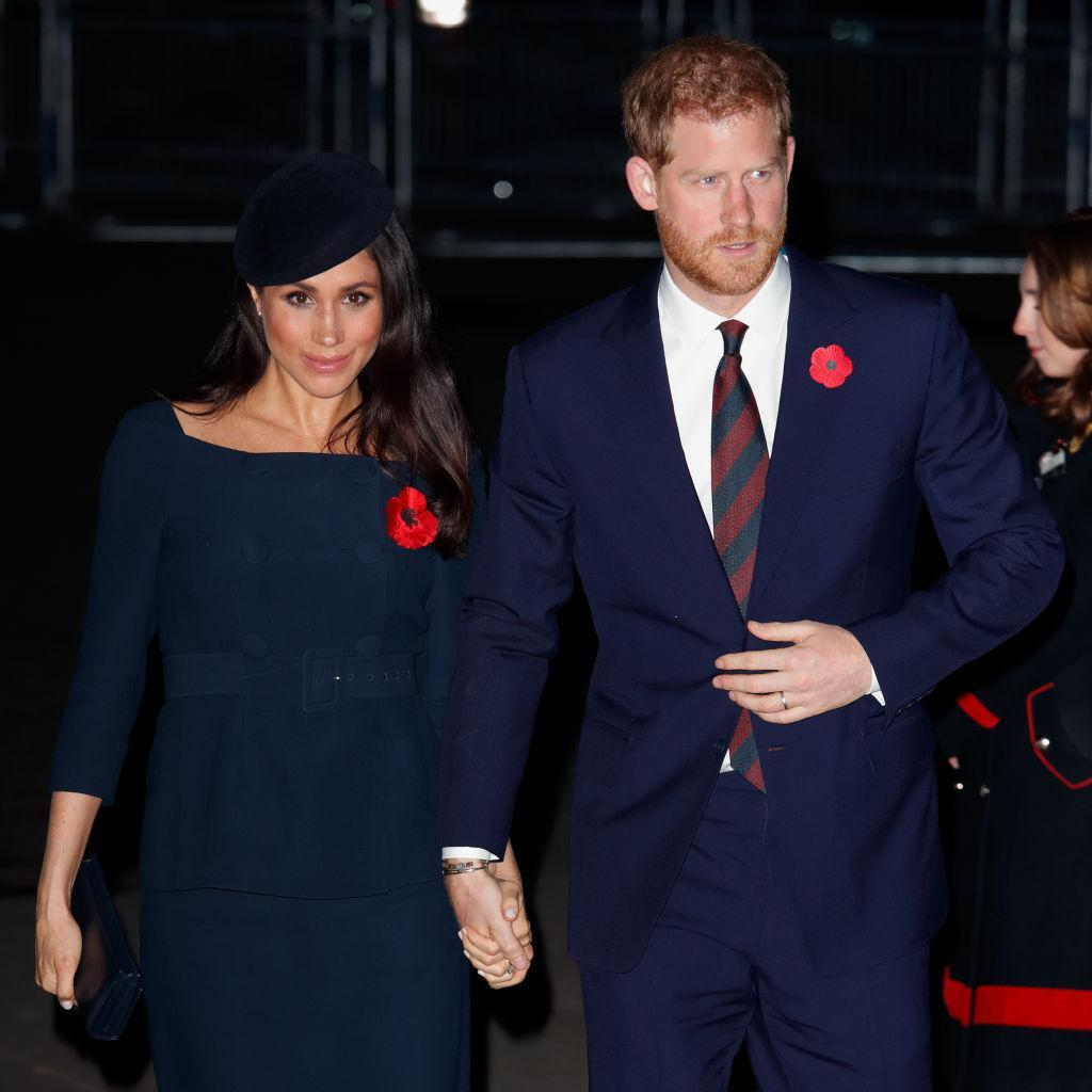 The arrival date of Meghan Markle and Prince Harry's first child is looming closer, sparking speculation as to who the chosen godparents will be. [Source: Getty]