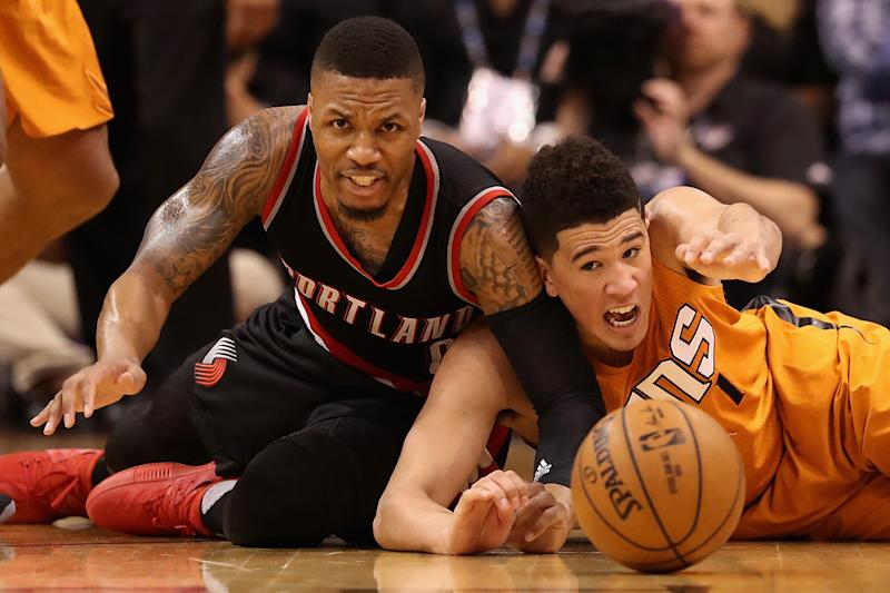 Damian Lillard and Devin Booker are the only two candidates for Bubble MVP. (Christian Petersen/Getty Images)