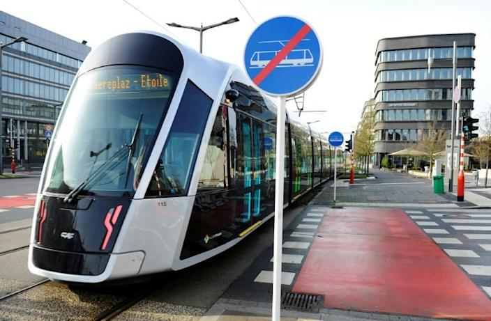 Private cars are the most used means of transport in Luxembourg, but the government is hoping to change that with the new free ride policy (AFP Photo/JEAN-CHRISTOPHE VERHAEGEN)